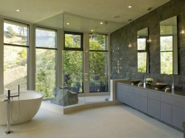 modernes badezimmer ideen natur