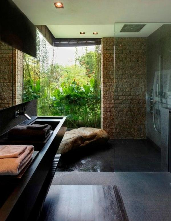 modernes badezimmer ideen natursteine