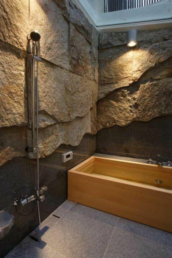 modernes badezimmer ideen naturstein