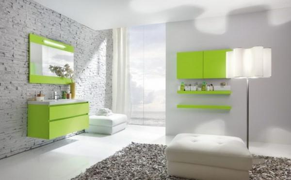 Modernes Badezimmer Ideen Neongrün