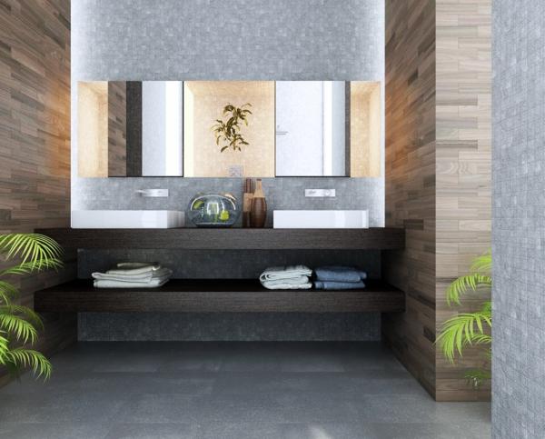 modernes badezimmer ideen offene regale