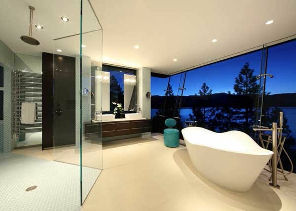modernes badezimmer ideen panorama