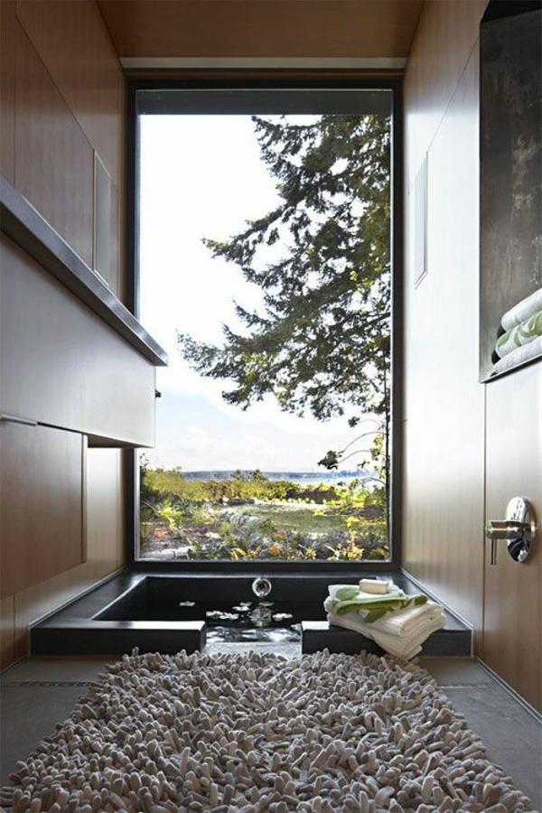 modernes badezimmer ideen panoramafenster