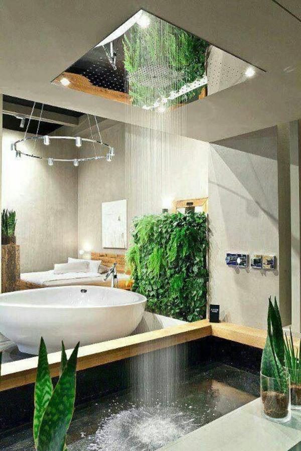 modernes badezimmer ideen regendusche