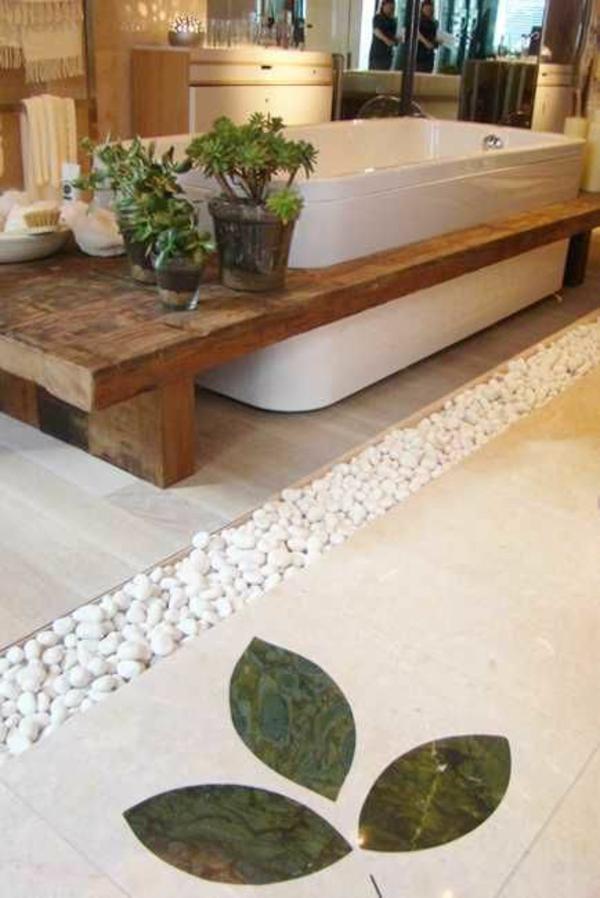 modernes badezimmer ideen sukkulenten