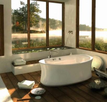 Modernes badezimmer ideen wie sie die natur näher bringen können