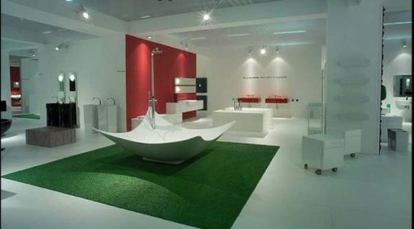 modernes badezimmer ideen viereckig