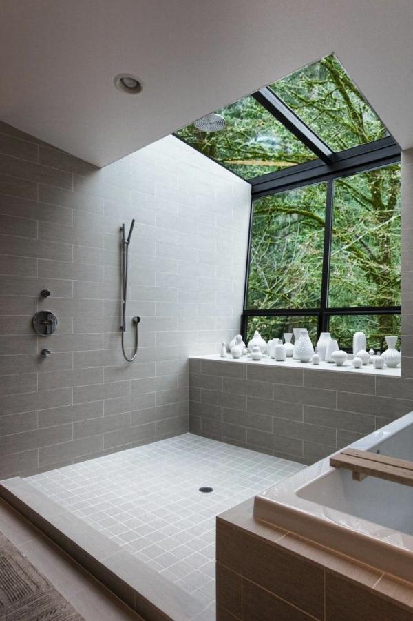 modernes badezimmer ideen weiße vasen