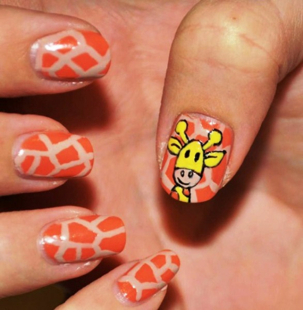 fingerngel design giraffe nageldesign muster - Fingernagel Muster Einfach
