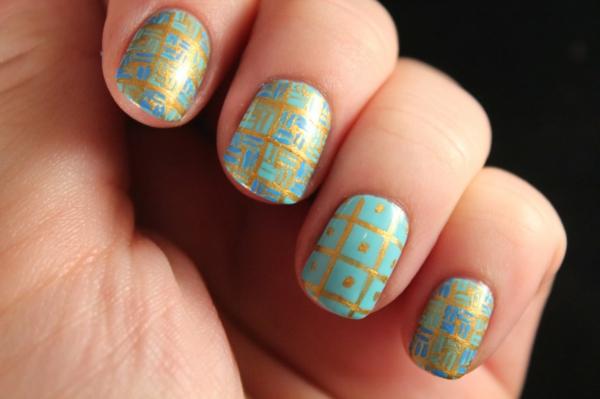 nageldesign muster wie sie fingerngel designs selber machen - Fingernagel Lackieren Muster