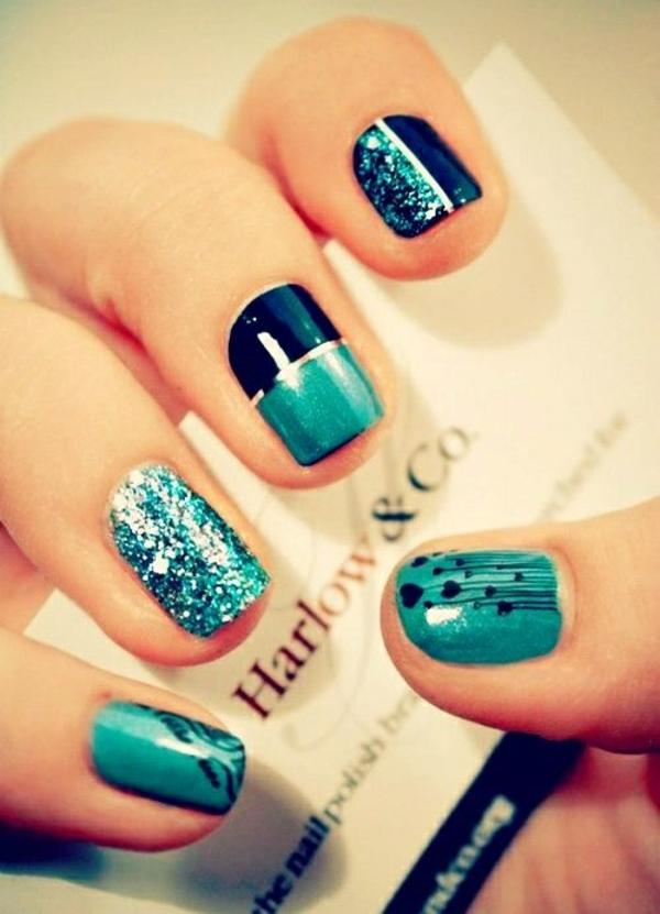 nailart designs in blau nageldesign bilder