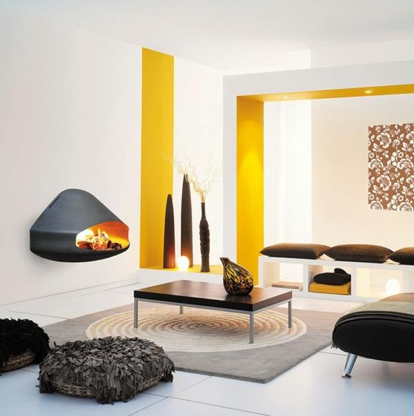 offener kamin design modern