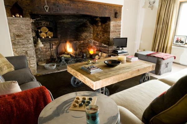 offene feuerstelle wohnzimmer. Black Bedroom Furniture Sets. Home Design Ideas
