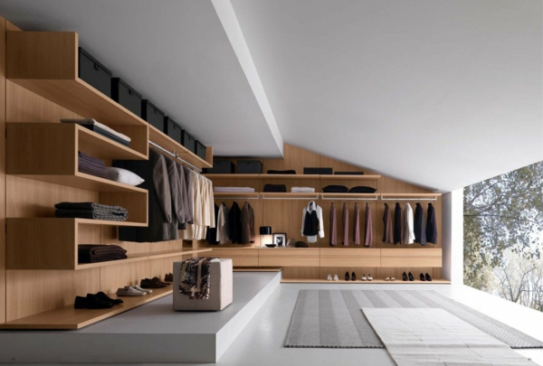 Offener Kleiderschrank Selber Bauen ~ offener kleiderschrank selber bauen holz teppich grau