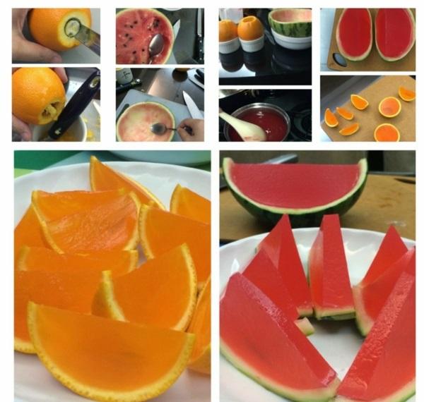 orange wassermelone nachtisch anleitung