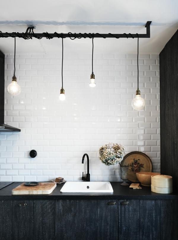 pendelleuchten glühbirnen küche