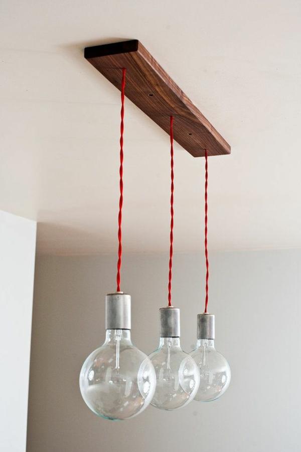 pendelleuchten glühbirnen rote kabel