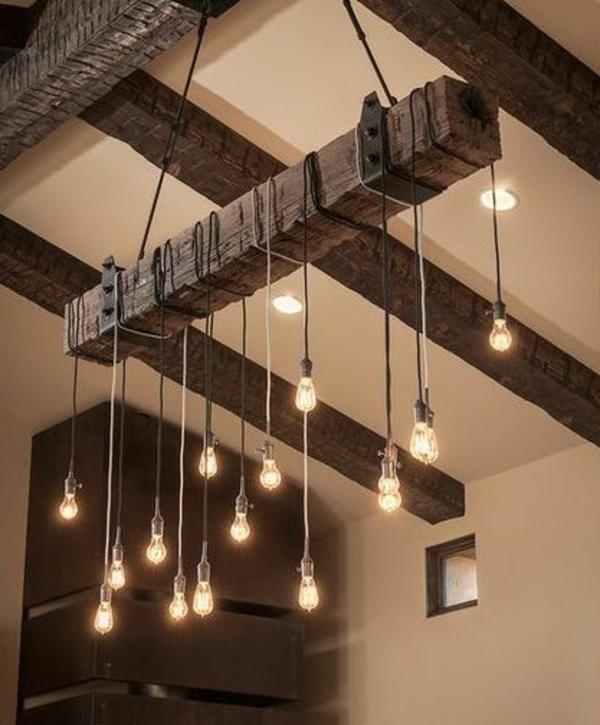 pendelleuchten glühbirnen rustikal