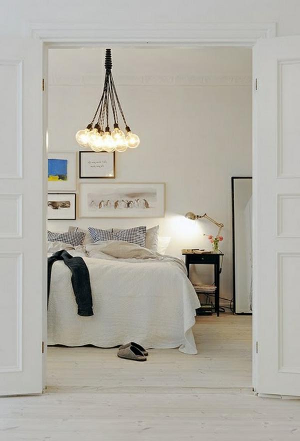 pendellampen glühbirnen schlafzimmer