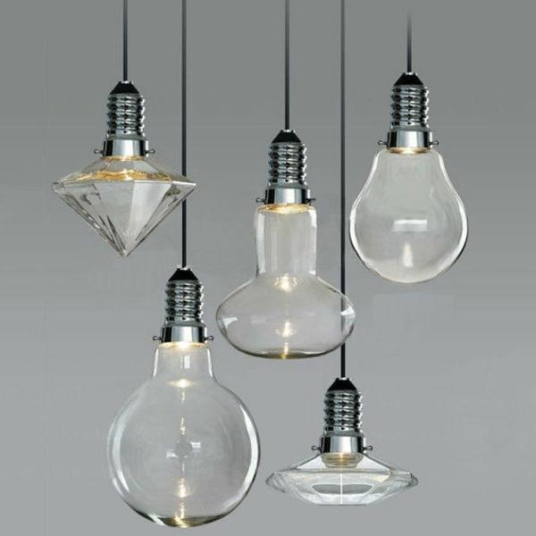 pendellampen glühbirnen unterschiedliche formen