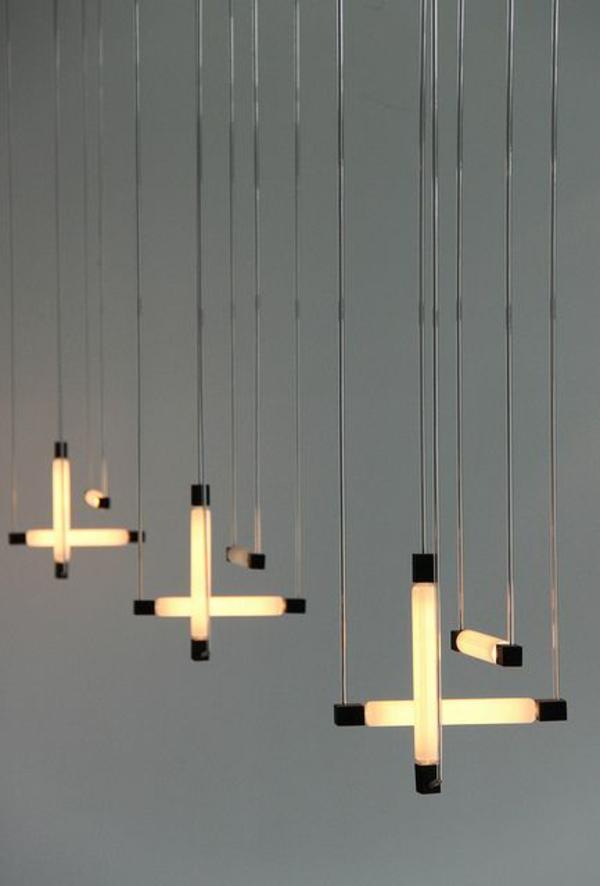 lampen modern led hängeleuchte gekreuzt