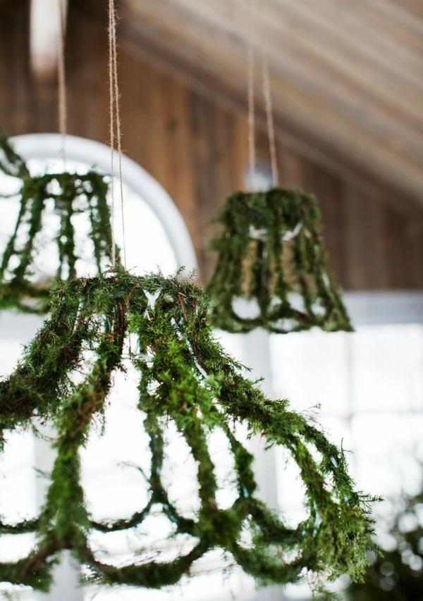 modern led hängeleuchte gras pflanzen