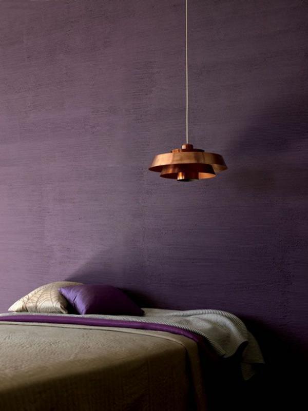 lampen modern led hängeleuchte kühn violett