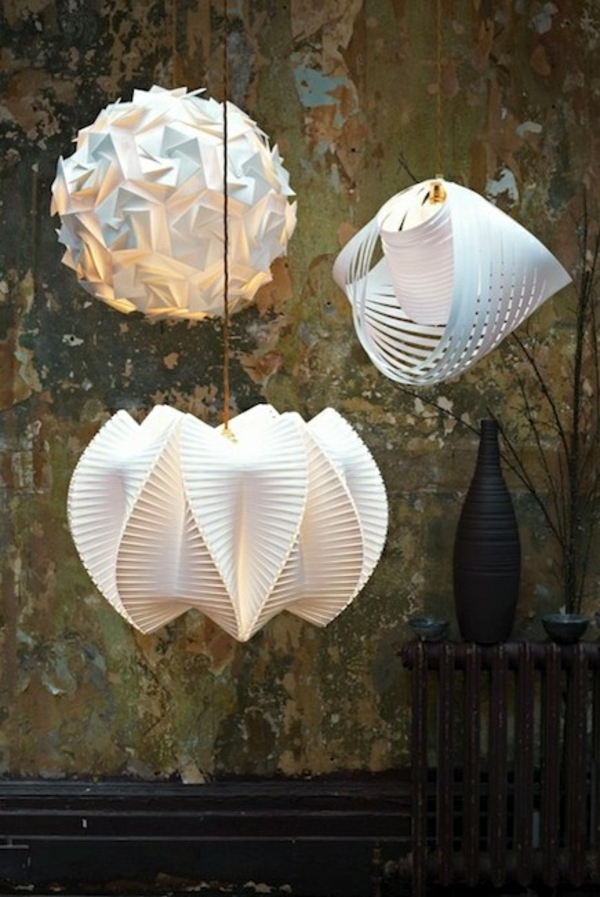 pendellampen modern led hängeleuchte origami