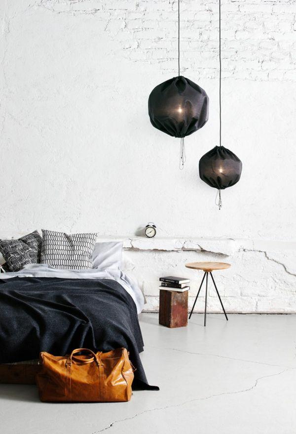 pendellampen modern led hängeleuchte stoff schwarz