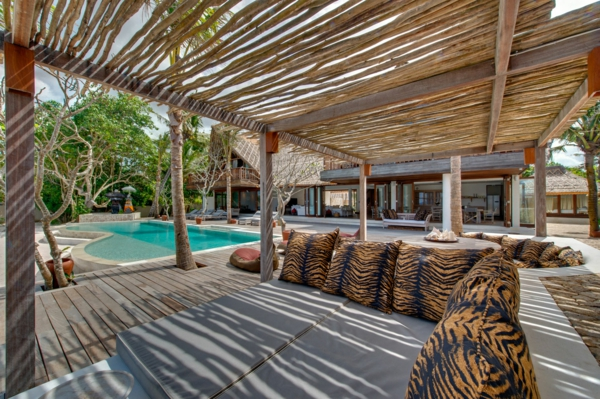 pergoladach terrassenüberdachung aus bambus