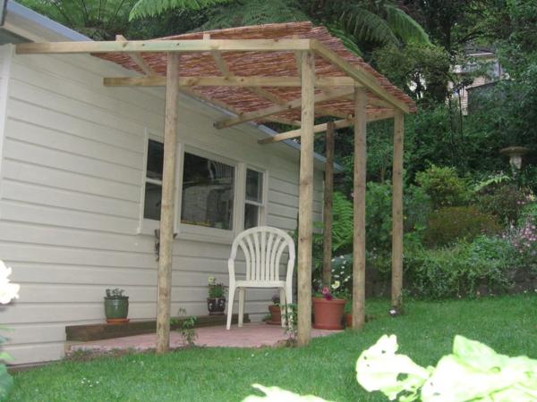 pergola dach terrassenüberdachung bungalow