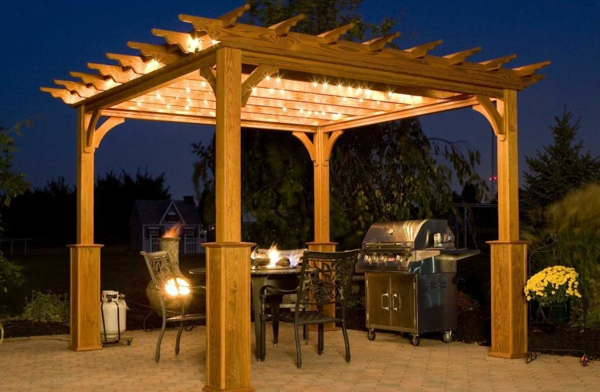 pergoladach terrassenüberdachung kettenlichter