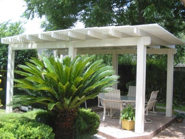 pergoladach terrassenüberdachung palme