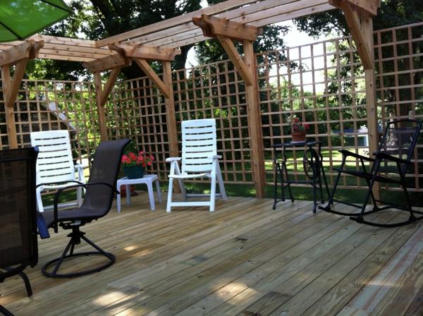 terrassenuberdachung holz rustikal. Black Bedroom Furniture Sets. Home Design Ideas