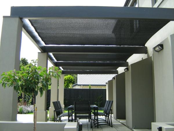 pergoladach terrassenüberdachung schwarz