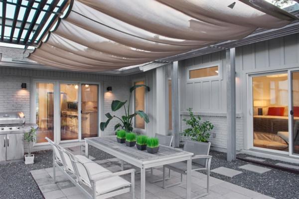pergoladach terrassenüberdachung stoff weiß