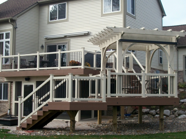 pergoladach terrassenüberdachung treppe