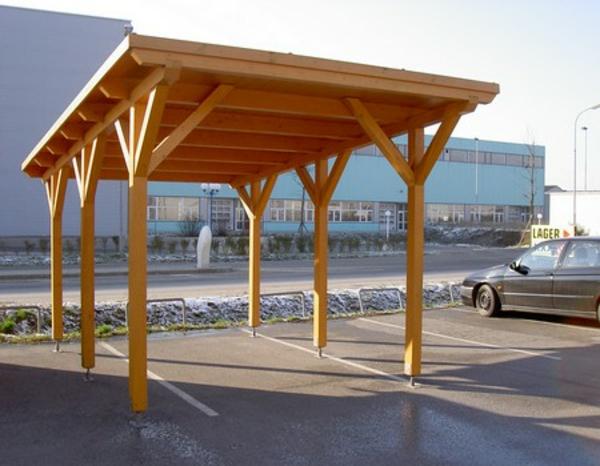 Pultdachkonstruktion bei Gartenhäusern mit vorgefertigten ...
