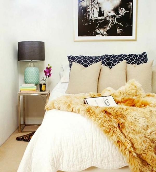 regeln feng shui schlafzimmer einrichten ideen fellauflage tagesdecke