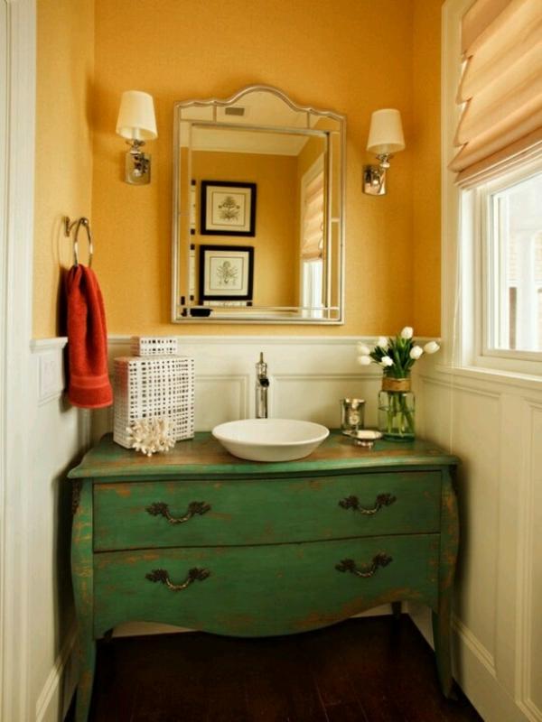 retro möbel einrichtung wohnen badezimmer