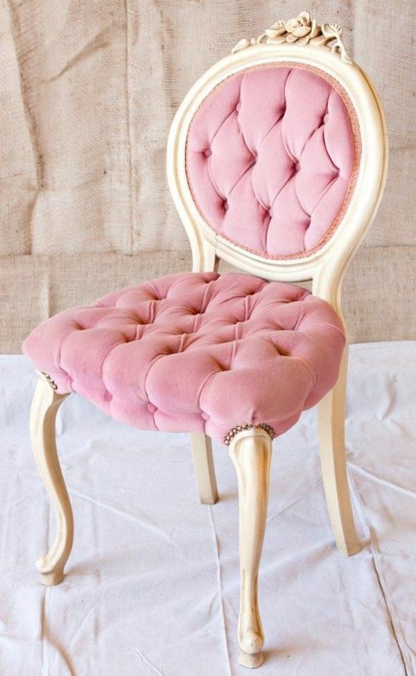 retro möbel einrichtung wohnen rosa polstersessel