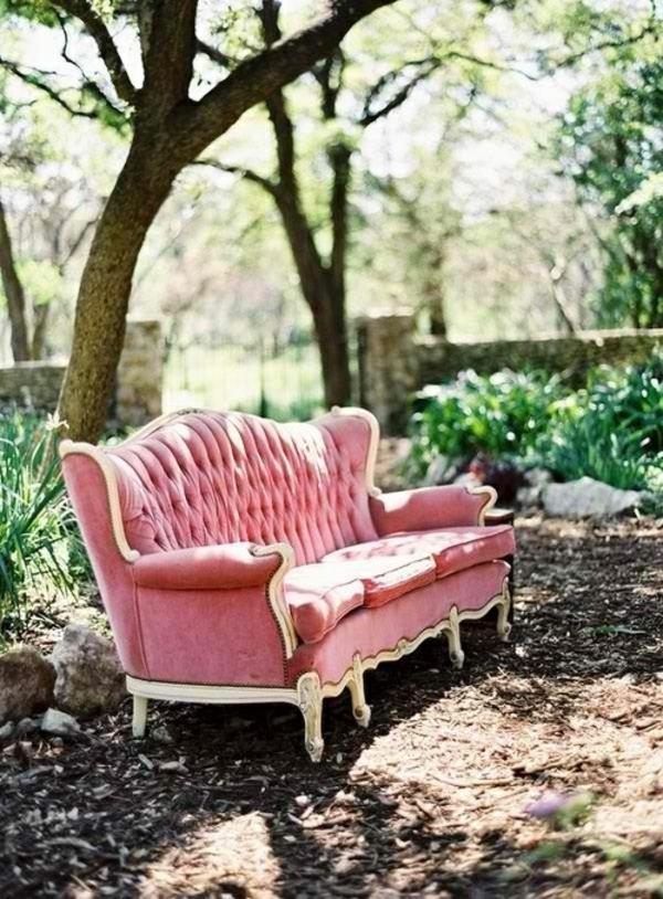 retro möbel einrichtung wohnen rosa sofa samt
