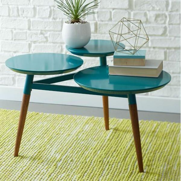 retro möbel einrichtung wohnen rund tischplatten