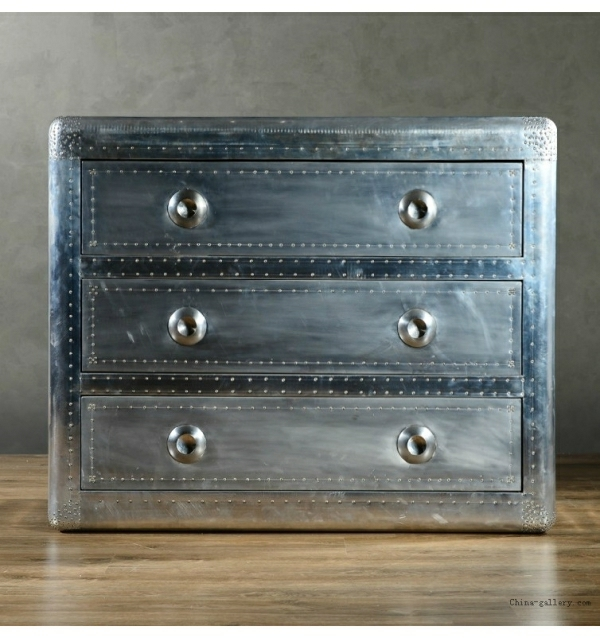 retro möbel einrichtung wohnen silbern schubladenschrank