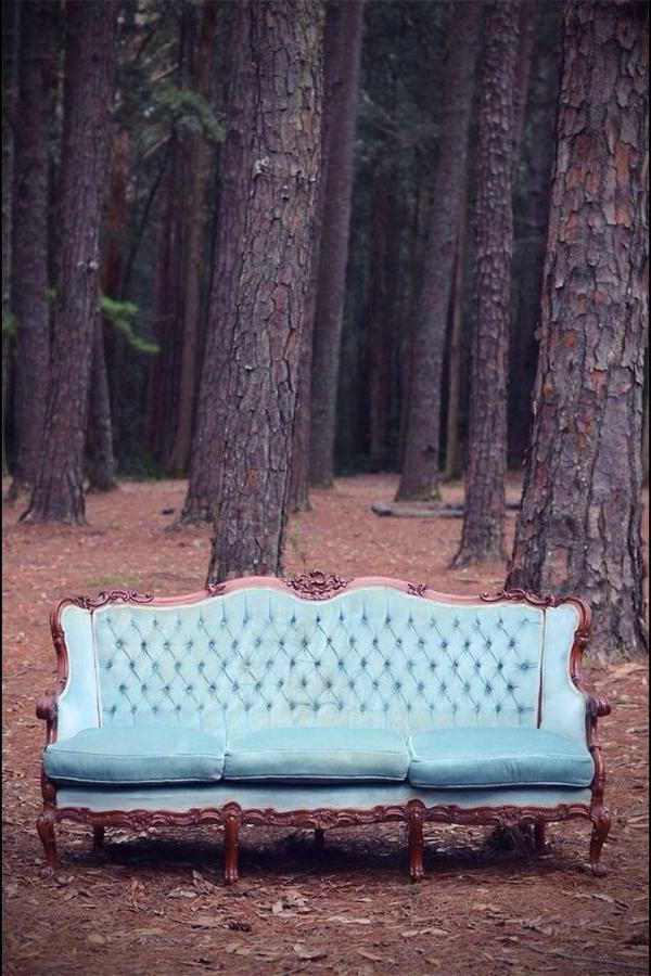 retro möbel einrichtung wohnen sofa blau
