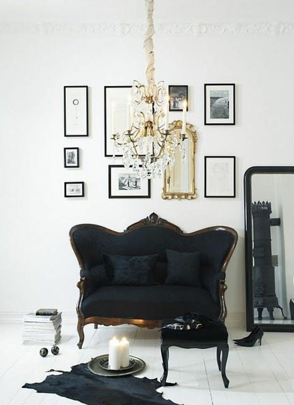retro möbel einrichtung wohnen sofa couch schwarz