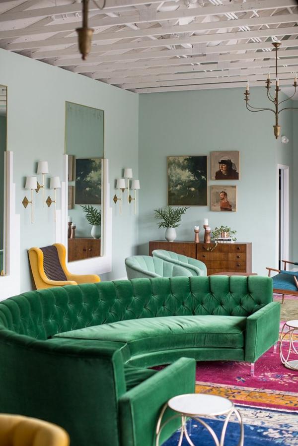 retro möbel einrichtung wohnen sofa grün