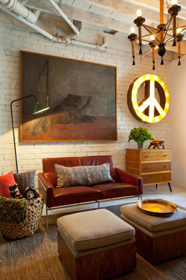 wohnzimmer lounge style ~ surfinser.com - Wohnzimmer Retro Style