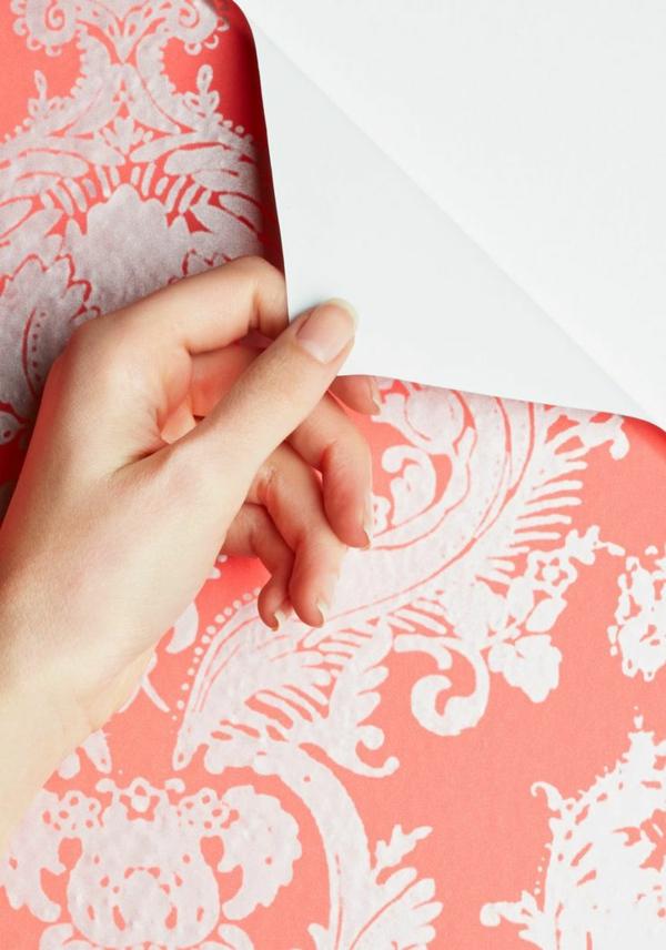 Mustertapeten Richtig Tapezieren : richtig tapezieren designer tapeten florale muster rosa wandideen