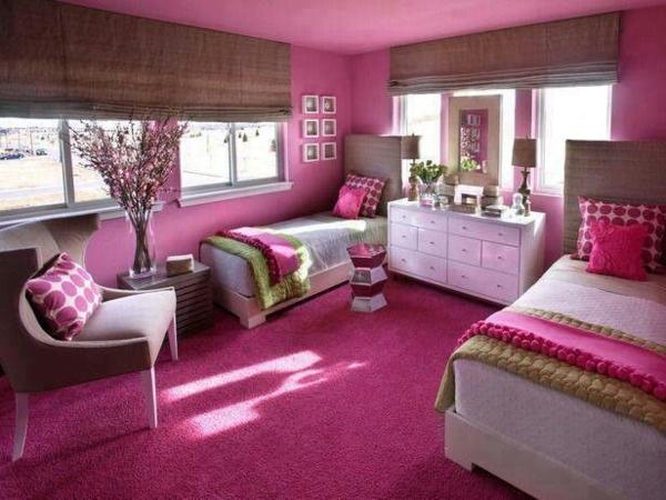 rosa schlafzimmer doppelzimmer
